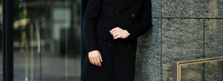 ISAIA (イザイア) MARSHAL (マーシャル) カシミヤ ダブルブレスト コート BLACK (ブラック・990) Made in italy (イタリア製) 2021 秋冬 愛知 名古屋 Alto e Diritto altoediritto アルトエデリット カシミヤコート カシミヤダブルコート
