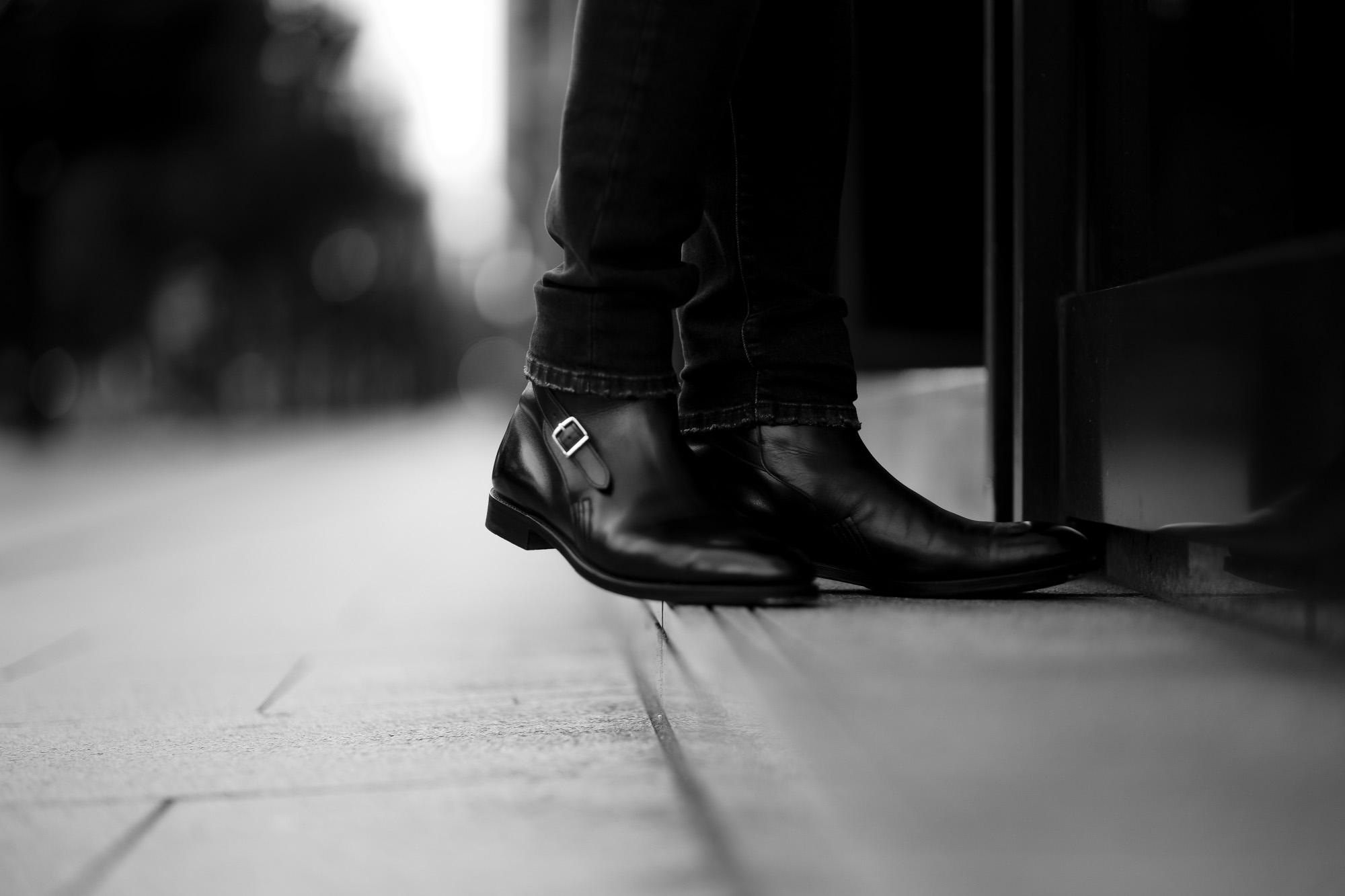 JOHN LOBB (ジョンロブ) ABBOT (アボット) 8695B Jodhpur Boots Black Calf ブラックカーフレザー ジョッパーブーツ BLACK (ブラック) Made In England (イギリス製) 2021 愛知 名古屋 Alto e Diritto altoediritto アルトエデリット ブーツ レザーブーツ johnlobbブーツ YOHEI FUKUDA ビスポーク 福田洋平 BESPOKE