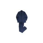 LUCA GRASSIA (ルカ グラシア) SALVATORE ENRICO (サルヴァトーレ エンリコ) サージウール シャドーストライプ スーツ NAVY (ネイビー) Made in italy (イタリア製) 2021 秋冬新作 【入荷しました】【フリー分発売開始】のイメージ