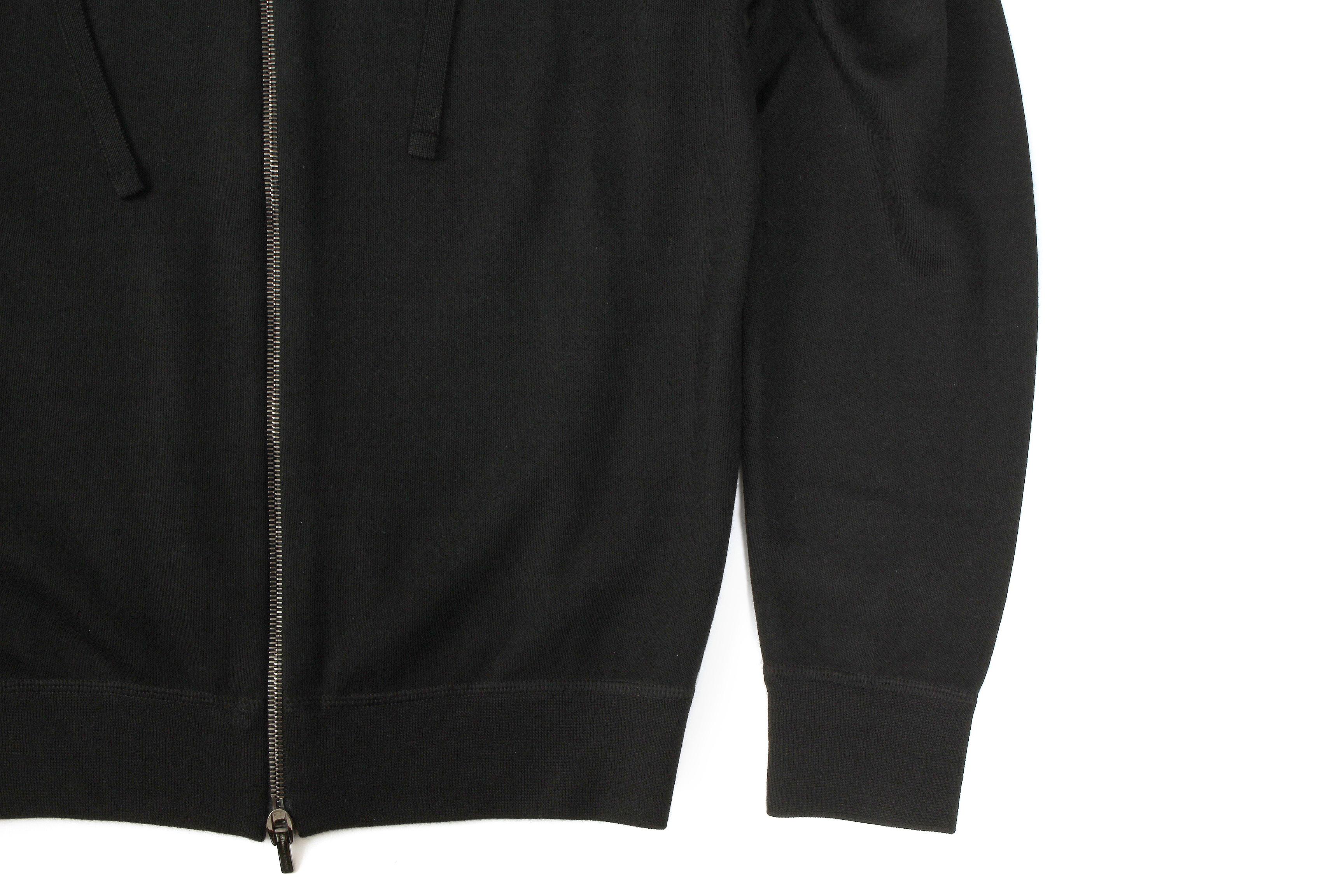 MANRICO CASHMERE (マンリコ カシミア) Super Cashmere Zip Up Knit Parker (スーパーカシミア ジップアップ ニットパーカー) ハイゲージ アラシャンカシミヤニット パーカー BLACK (ブラック) made in italy (イタリア製) 2021 【ご予約受付中】愛知 名古屋 Alto e Diritto altoediritto アルトエデリット カシミヤパーカー