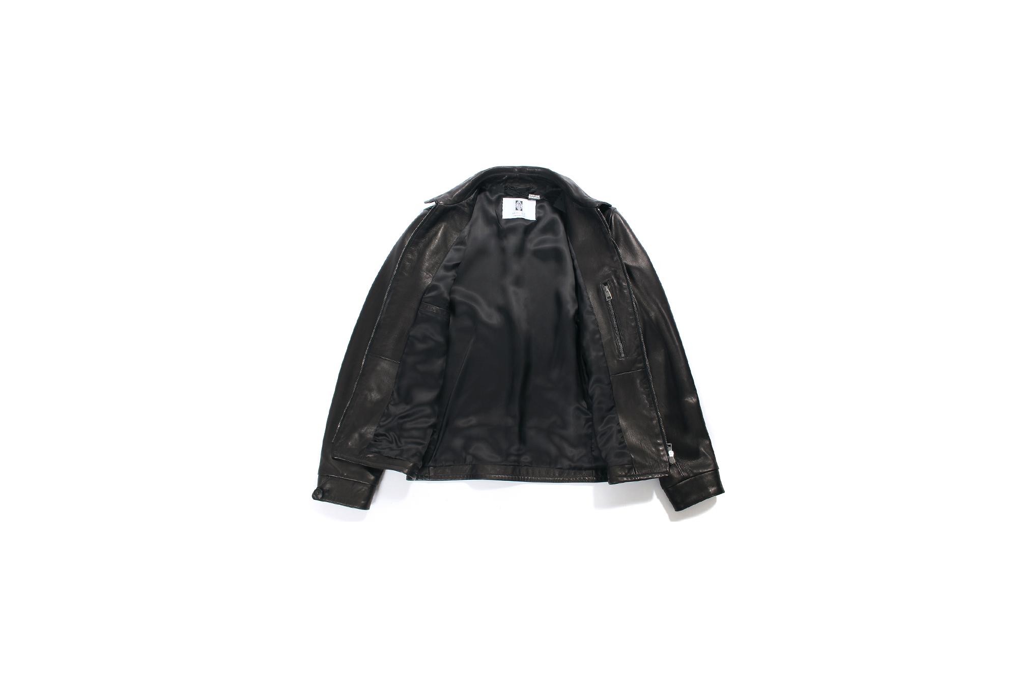 MOLEC (モレック) Single Leather Jacket (シングル レザージャケット) PLONGE Lambskin プロンジェラムレザー シングル ライダース ジャケット NERO (ブラック) NERO (ブラック) Made in italy (イタリア製) 2021 愛知 名古屋 Alto e Diritto altoediritto アルトエデリット レザージャケット