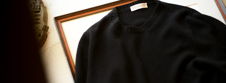 "MONARO FIRENZE ""Loropiana Baby Cashmere"" Crew Neck Sweater BLACK 2021AW 【Special Model】のイメージ"