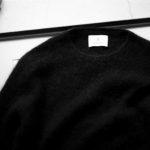"""RIVORA GENTLE Knit Crew Neck Cashmere Mohair Silk """"BLACK・010"""" 【Alto e Diritto 別注】【Special Model】のイメージ"""