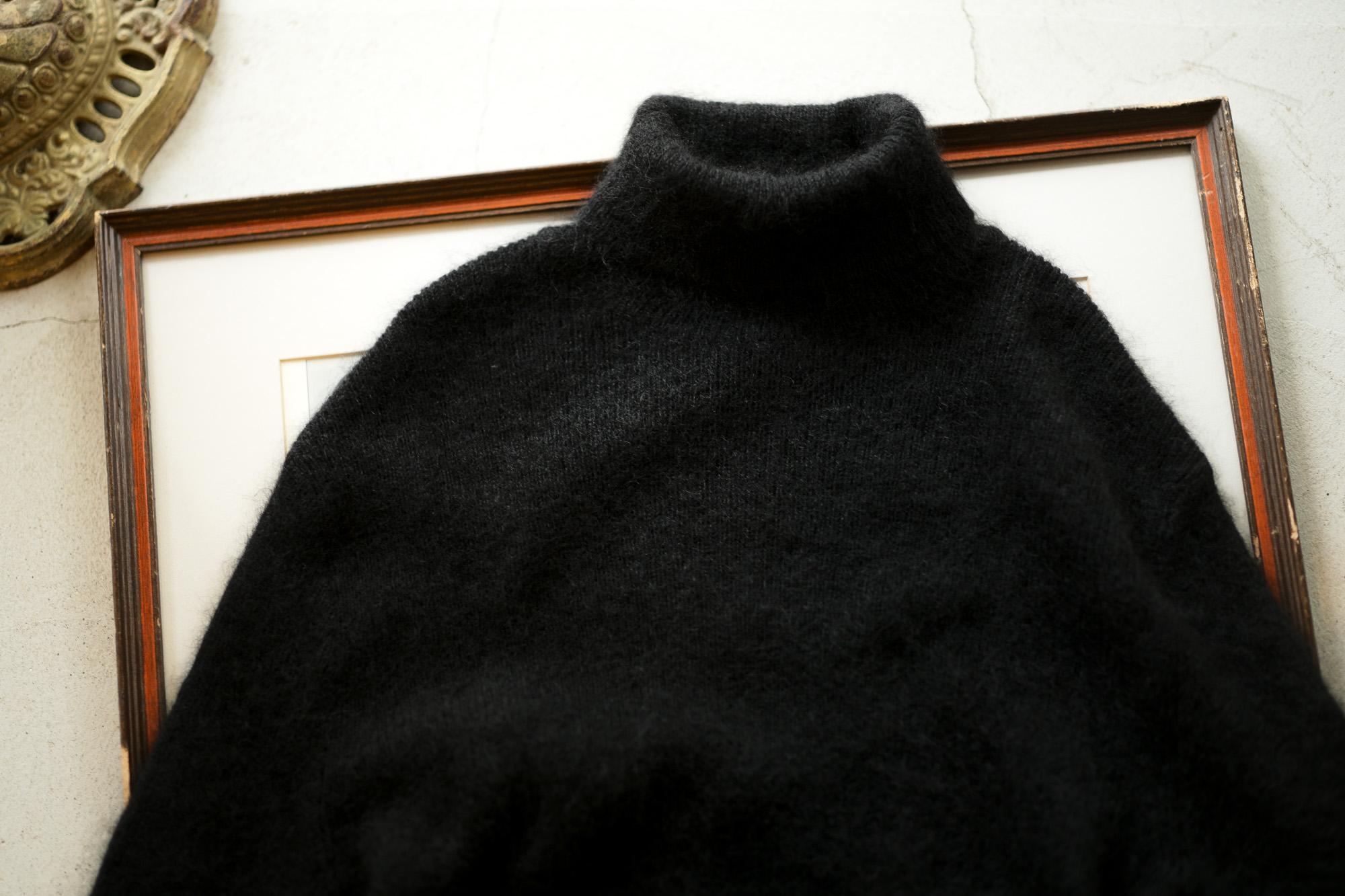 RIVORA GENTLE Knit Crew Neck Cashmere Mohair Silk BLACK・010 【Alto e Diritto 別注】【Special Model】愛知 名古屋 altoediritto アルトエデリット RIVORA (リヴォラ) GENTLE Knit Crew Neck (ジェントル ニット クルーネック) Cashmere Mohair Silk カシミア モヘア シルク ニット クルーネックセーター BLACK (ブラック・010) MADE IN JAPAN (日本製)