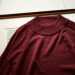 """RIVORA SIDE CABLE Mock Neck Pull-Over """"BORDEAUX・150"""" 2021AWのイメージ"""