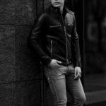 cuervo bopoha (クエルボ ヴァローナ) Satisfaction Leather Collection (サティスファクション レザー コレクション) MATT (マット) LAMB LEATHER (ラムレザー) シングル ライダース ジャケット BLACK (ブラック) MADE IN JAPAN (日本製) 2021 秋冬 【Special Model】【ご予約開始】のイメージ