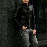 cuervo bopoha (クエルボ ヴァローナ) Satisfaction Leather Collection (サティスファクション レザー コレクション) MATT (マット) LAMB LEATHER (ラムレザー) シングル ライダース ジャケット BLACK (ブラック) MADE IN JAPAN (日本製) 2021 秋冬 【Special Model】【ご予約受付中】のイメージ