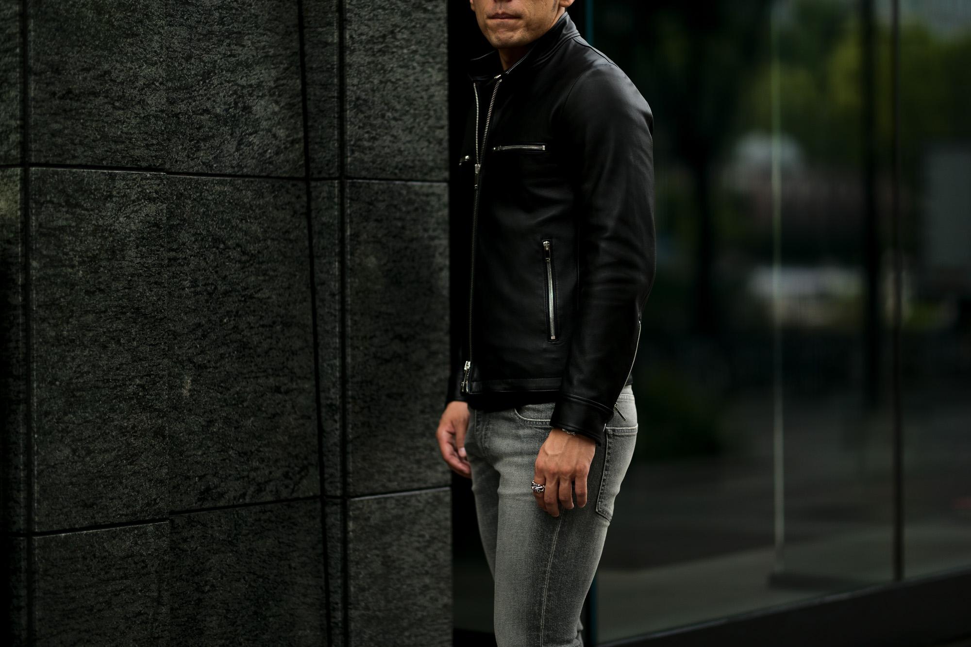 cuervo bopoha (クエルボ ヴァローナ) Satisfaction Leather Collection (サティスファクション レザー コレクション) MATT (マット) LAMB LEATHER (ラムレザー) シングル ライダース ジャケット BLACK (ブラック) MADE IN JAPAN (日本製) 2021 秋冬 【Special Model】愛知 名古屋 Alto e Diritto altoediritto アルトエデリット