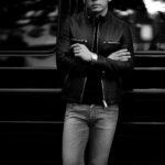 cuervo bopoha (クエルボ ヴァローナ) Satisfaction Leather Collection (サティスファクション レザー コレクション) MATT (マット) LAMB LEATHER (ラムレザー) シングル ライダース ジャケット BLACK (ブラック) MADE IN JAPAN (日本製) 2021 秋冬 【Special Model】のイメージ