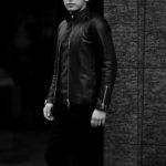 cuervo bopoha (クエルボ ヴァローナ) Satisfaction Leather Collection (サティスファクション レザー コレクション) RICHARD (リチャード) LAMB LEATHER (ラムレザー) シングル ライダース ジャケット BLACK (ブラック) MADE IN JAPAN (日本製) 2021秋冬のイメージ
