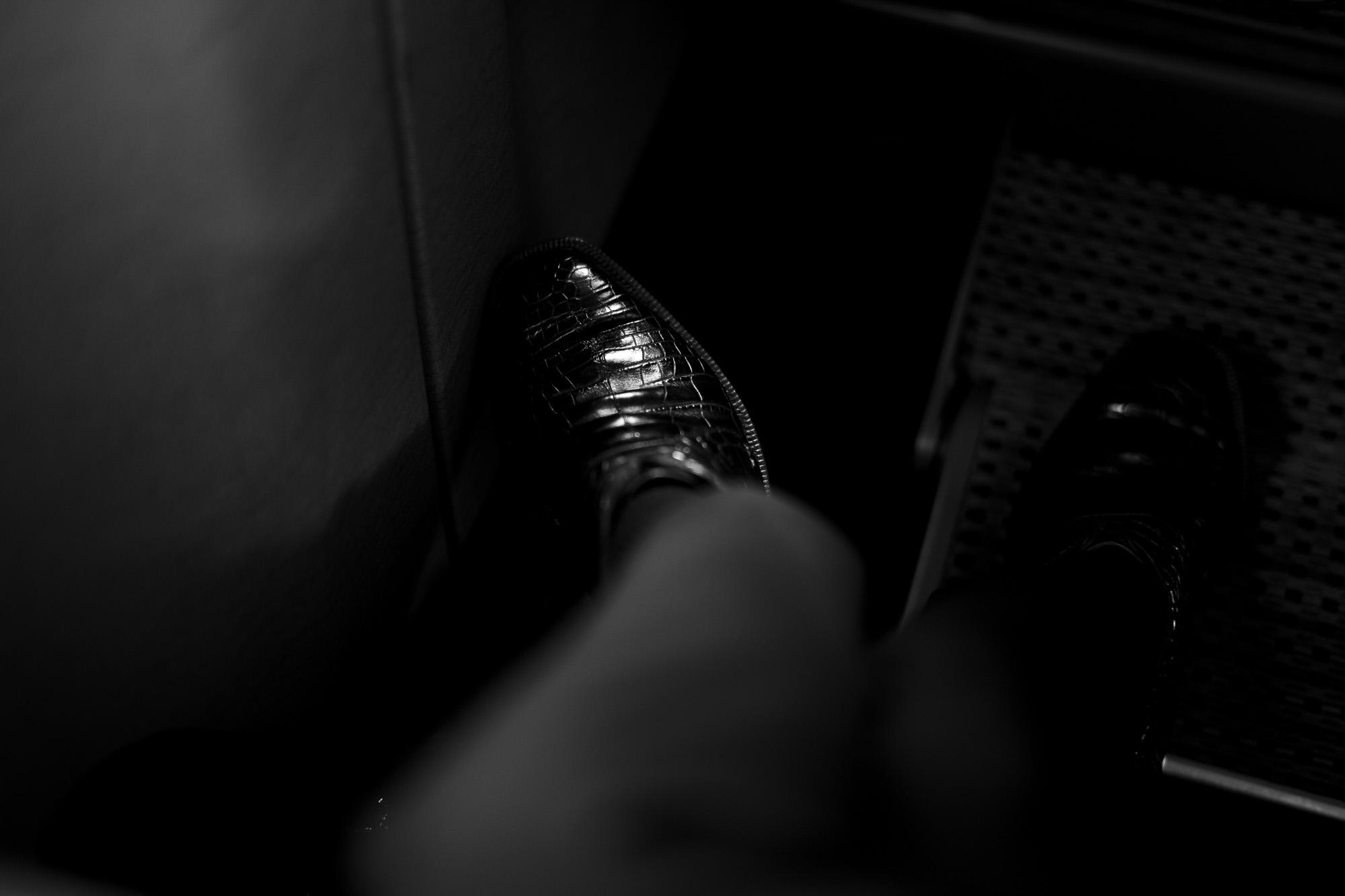 ENZO BONAFE (エンツォボナフェ) ART.3722 Crocodile Chukka boots クロコダイル Mat Crocodile Leather マット クロコダイル エキゾチックレザー チャッカブーツ NERO (ブラック) made in italy (イタリア製) 2021 秋冬 愛知 名古屋 Alto e Diritto altoediritto アルトエデリット