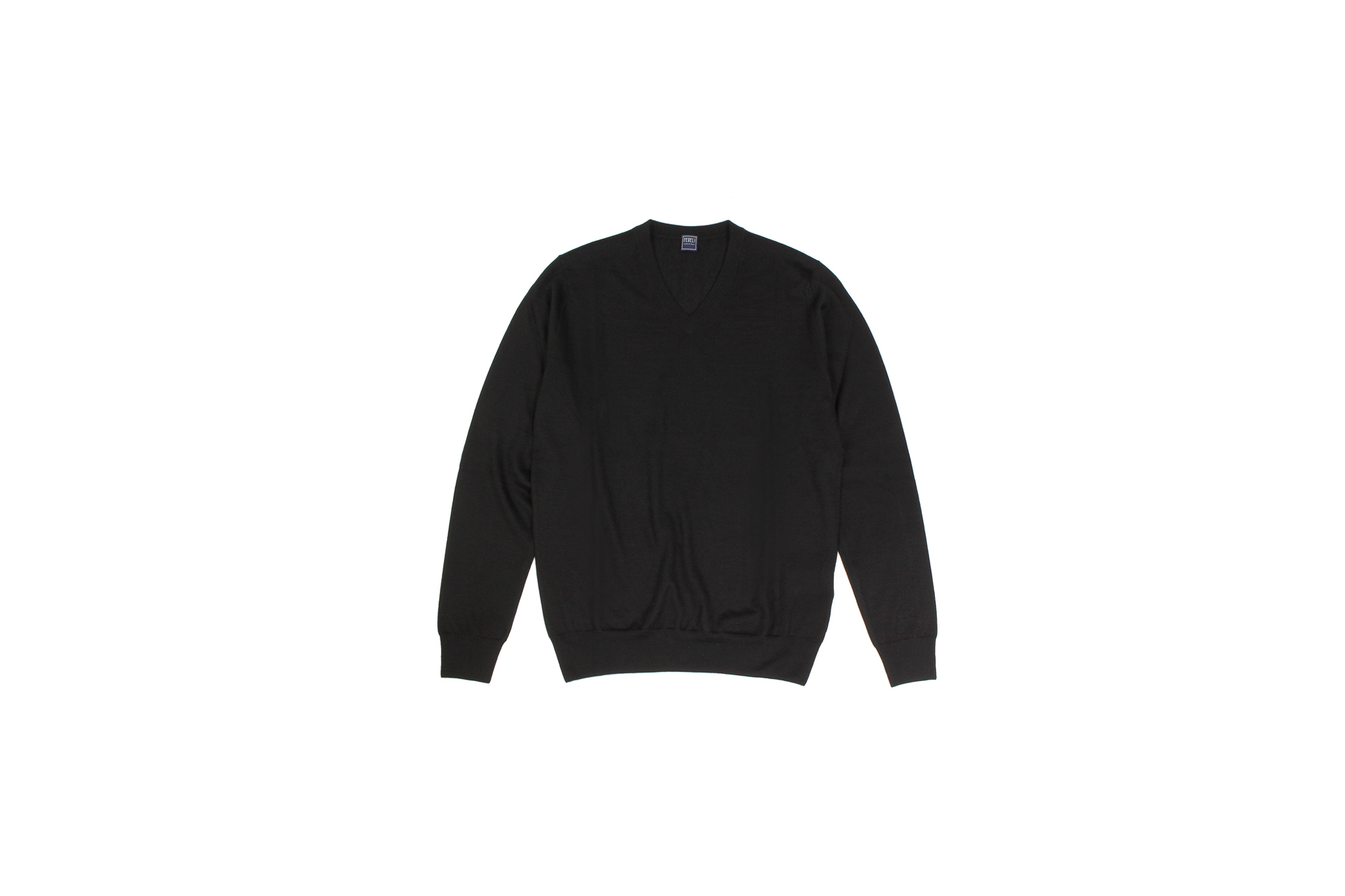 FEDELI (フェデリ) Silk Cashmere V Neck Sweater シルクカシミア Vネック セーター BLACK (ブラック・9) made in italy (イタリア製) 2021 秋冬新作 【入荷しました】【フリー分発売開始】Alto e Diritto altoediritto アルトエデリット 愛知 名古屋 シルカシ Vネックニット