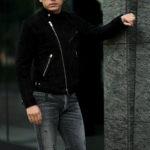 FIXER(フィクサー) F1(エフワン) DOUBLE RIDERS Cashmere Suede Leather ダブルライダース ジャケット BLACK(ブラック) 【ご予約開始します】【2021.7.24(Sat)~2021.8.08(Sun)】 愛知 名古屋 Alto e Diritto altoediritto アルトエデリット レザージャケット ダブルレザー
