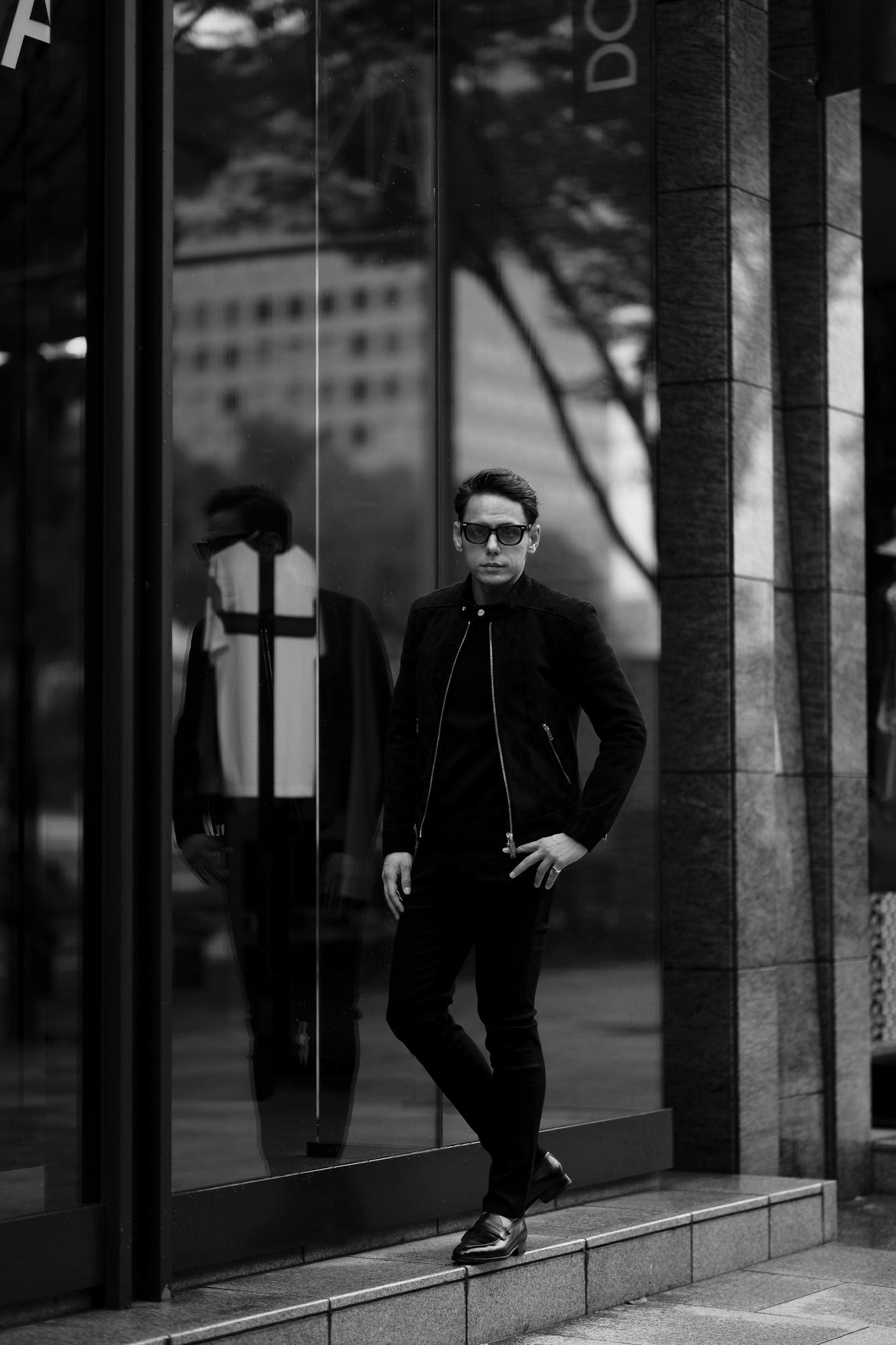 FIXER(フィクサー) F2(エフツー) SINGLE RIDERS Cashmere Suede Leather シングルライダース ジャケット BLACK(ブラック) 愛知 名古屋 Alto e Diritto altoediritto アルトエデリット レザージャケット ダブルレザー
