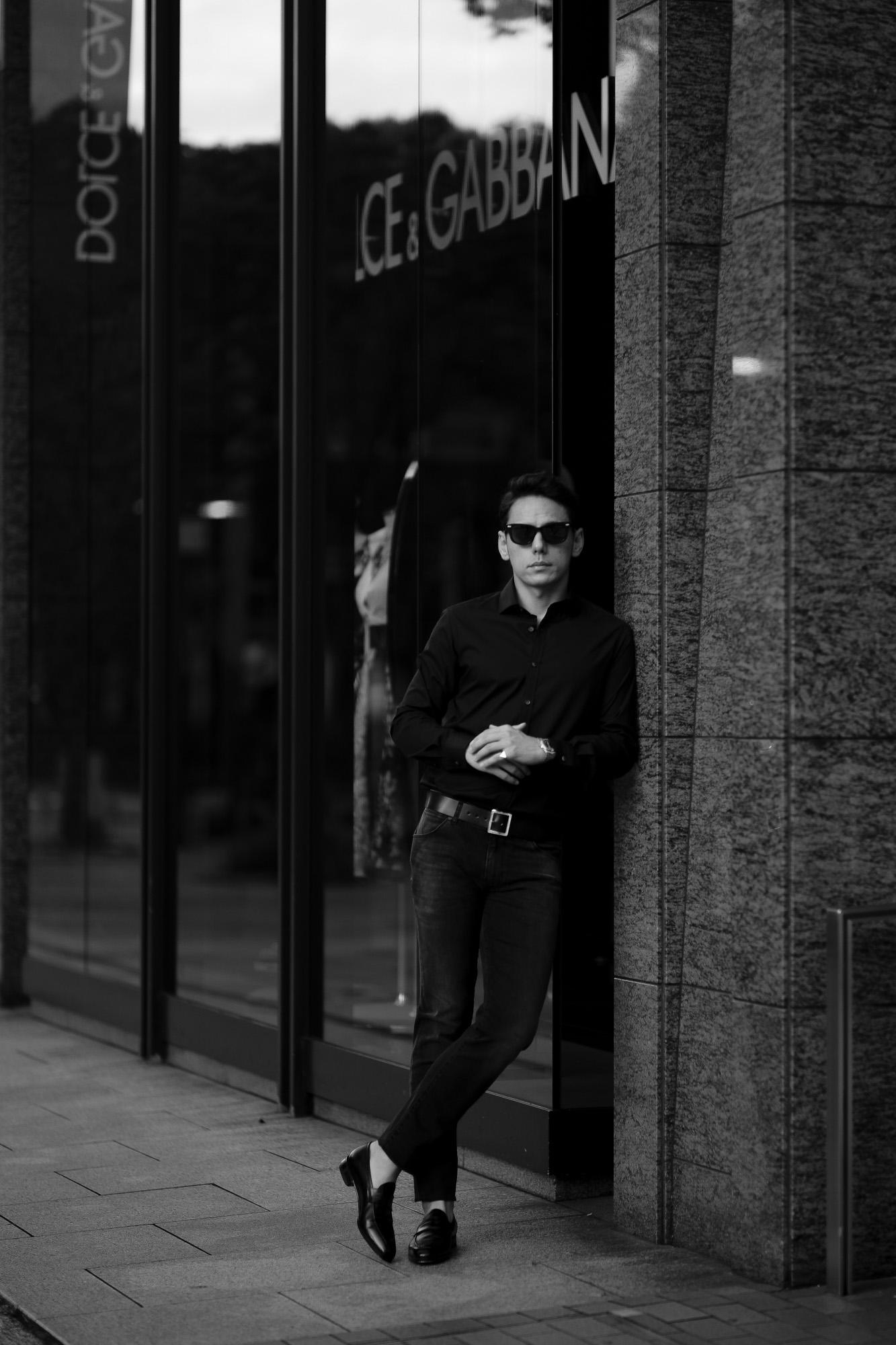 FIXER (フィクサー) FST-01(エフエスティー01) Broad Dress Shirts ストレッチコットン ブロード シャツ BLACK (ブラック) 【ご予約開始します】【2021.7.24(Sat)~2021.8.08(Sun)】愛知 名古屋 Alto e Diritto altoediritto アルトエデリット 黒シャツ ブラックシャツ
