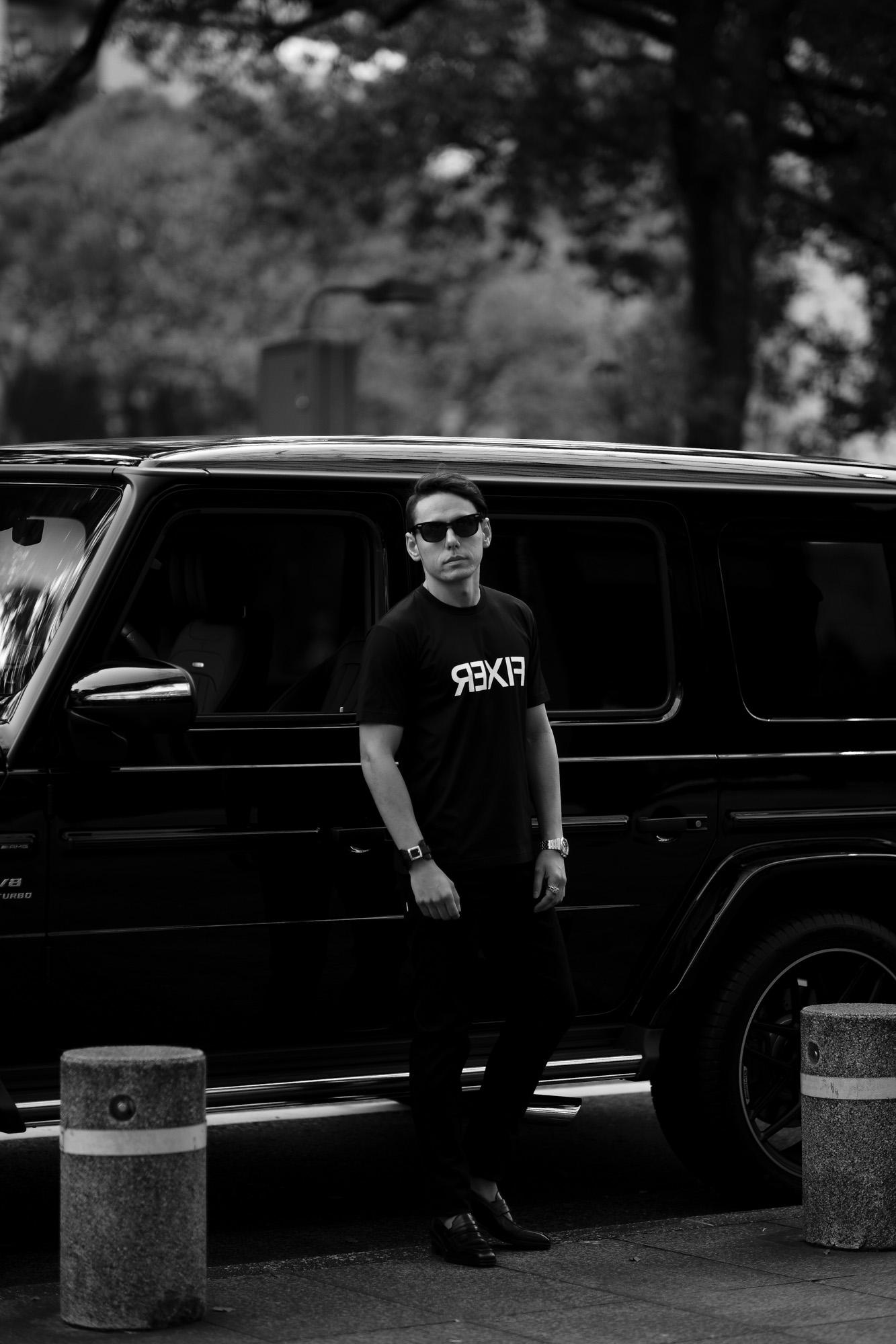 FIXER (フィクサー) FTS-03 Reverse Print Crew Neck T-shirt リバースプリント Tシャツ BLACK (ブラック) 【ご予約開始】【2021.7.19(Mon)~2021.8.08(Sun)】 愛知 名古屋 Alto e Diritto altoediritto アルトエデリット Tシャツ
