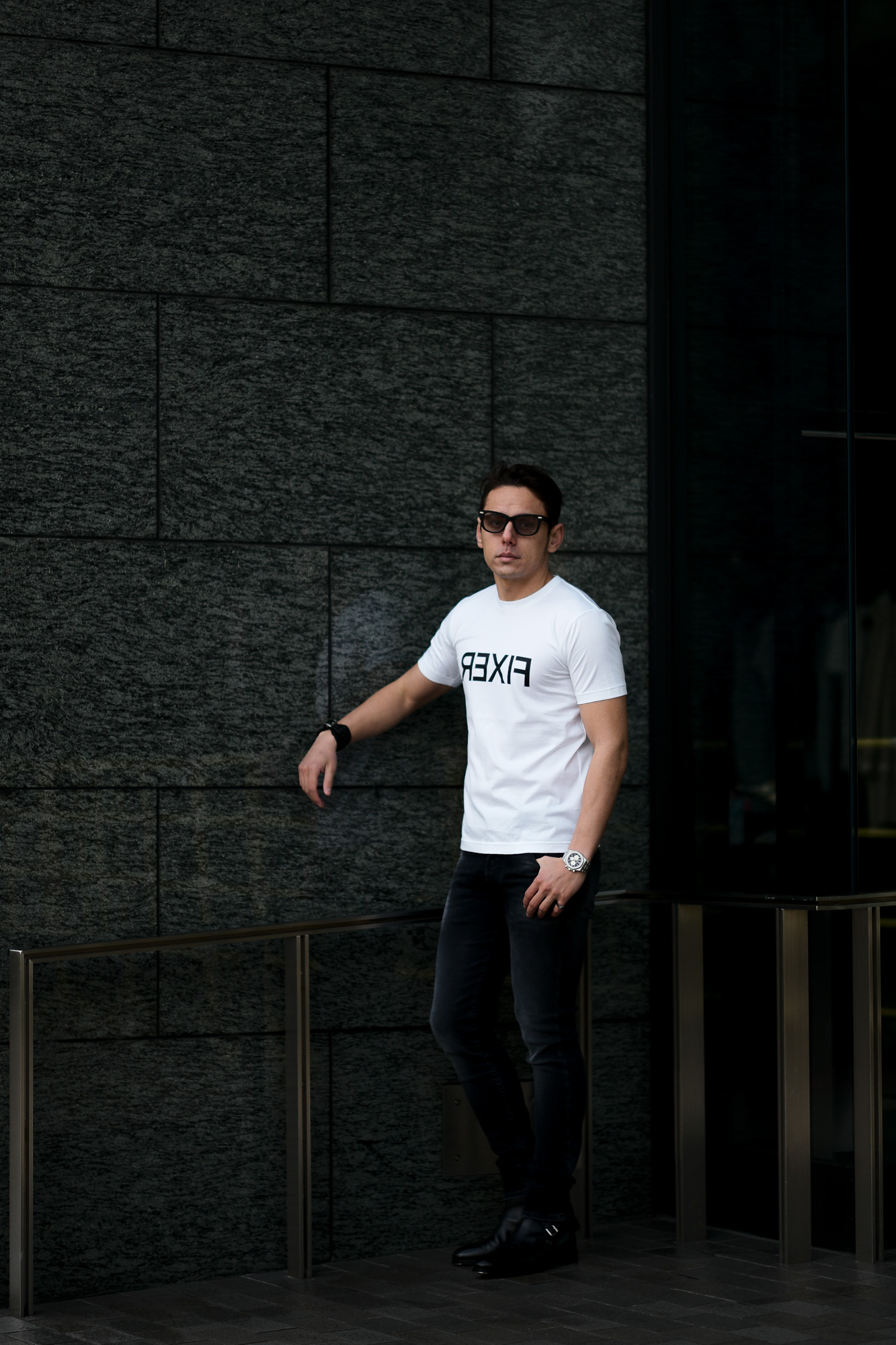 FIXER (フィクサー) FTS-03 Reverse Print Crew Neck T-shirt リバースプリント Tシャツ WHITE (ホワイト) 【ご予約開始】【2021.7.19(Mon)~2021.8.08(Sun)】 愛知 名古屋 Alto e Diritto altoediritto アルトエデリット Tシャツ