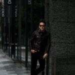 MOLEC (モレック) 3rd type Leather Jacket (3rdタイプ レザー ジャケット) PLONGE Lambskin プロンジェラムレザー サードタイプ レザー トラッカージャケット NERO (ブラック) Made in italy (イタリア製) 2021 【ご予約受付中】のイメージ