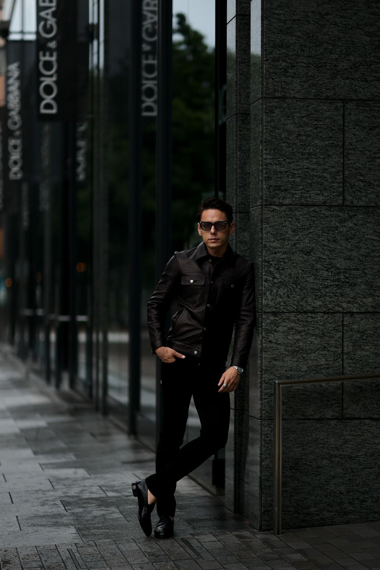 MOLEC (モレック) 3rd type Leather Jacket (3rdタイプ レザー ジャケット) PLONGE Lambskin プロンジェラムレザー サードタイプ レザー トラッカージャケット NERO (ブラック) Made in italy (イタリア製) 2021 【ご予約開始】愛知 名古屋 Alto e Diritto altoediritto アルトエデリット