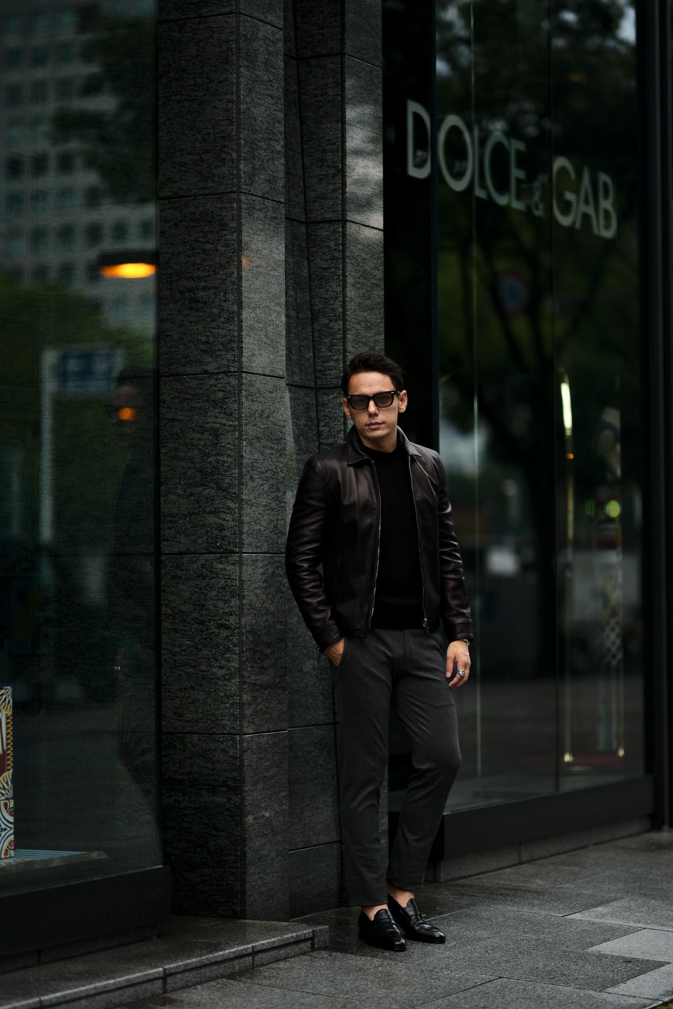 MOLEC (モレック) Single Leather Jacket (シングル レザージャケット) PLONGE Lambskin プロンジェラムレザー シングル ライダース ジャケット NERO (ブラック) Made in italy (イタリア製) 2021 愛知 名古屋 Alto e Diritto altoediritto アルトエデリット レザージャケット