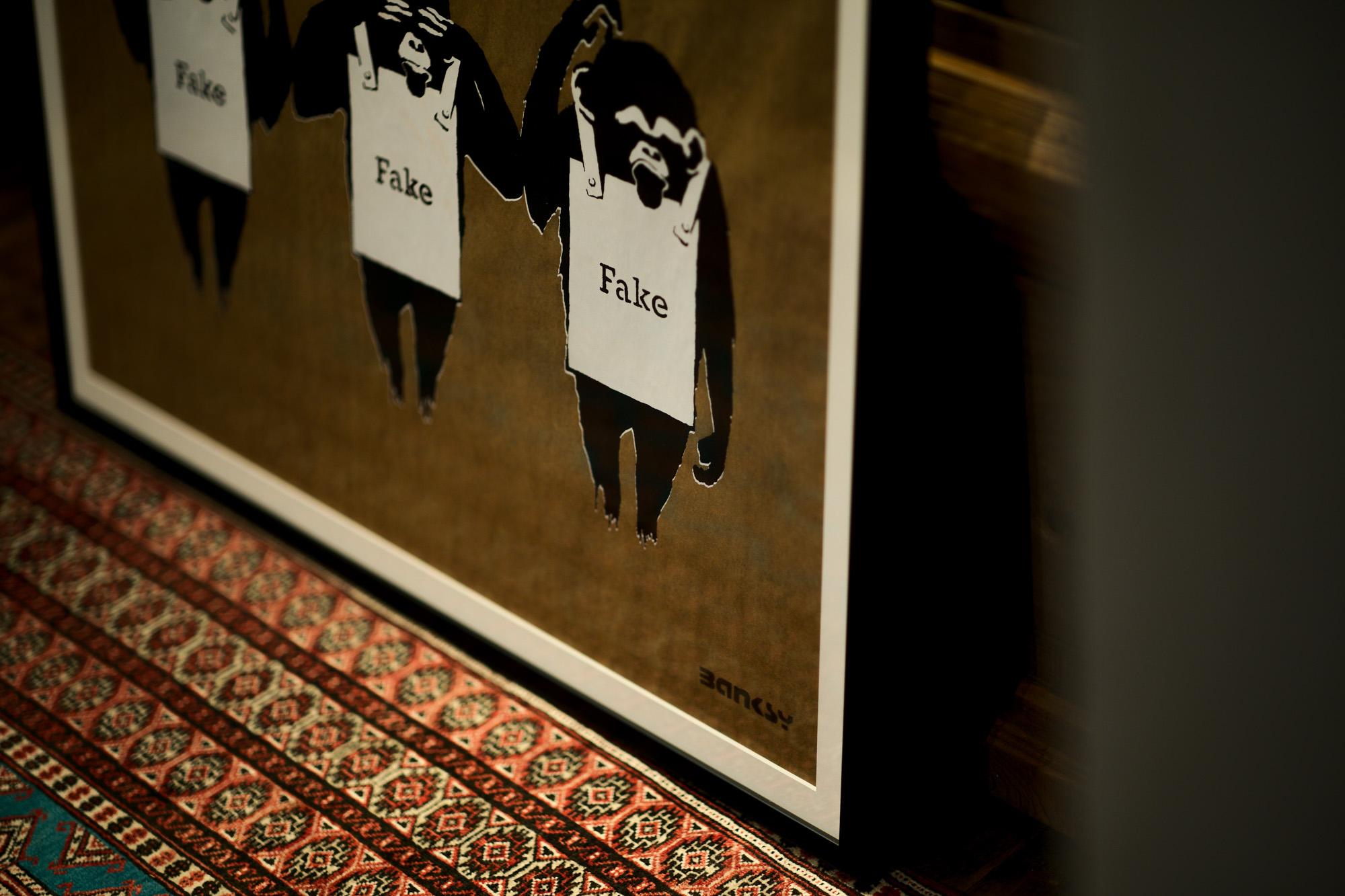 Not Not Banksy Not Not Banksy // Hear Not Not Banksy , See Not Not Banksy , Think Not Not Banksy  EDITION:AP 14/15 2018 ノットノットバンクシー ノットバンクシー サル 猿 さる Gallery D.N.A Japan February 2021 宮崎県 愛知 名古屋 Alto e Diritto altoediritto アルトエデリット
