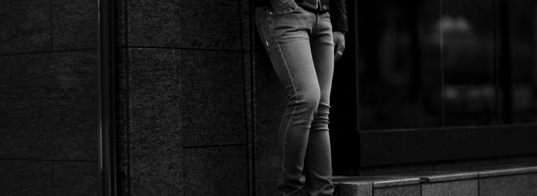 PT TORINO DENIM (ピーティートリノデニム) ROCK (ロック) SKINNY FIT (スキニーフィット) ストレッチ クラッシュ デニムパンツ LIGHT GRAY(ライトグレー・LT55) 2021秋冬 【ご予約受付中】愛知 名古屋 Alto e Diritto altoediritto アルトエデリット デニム ブラックデニム 黒デニム グレーデニム