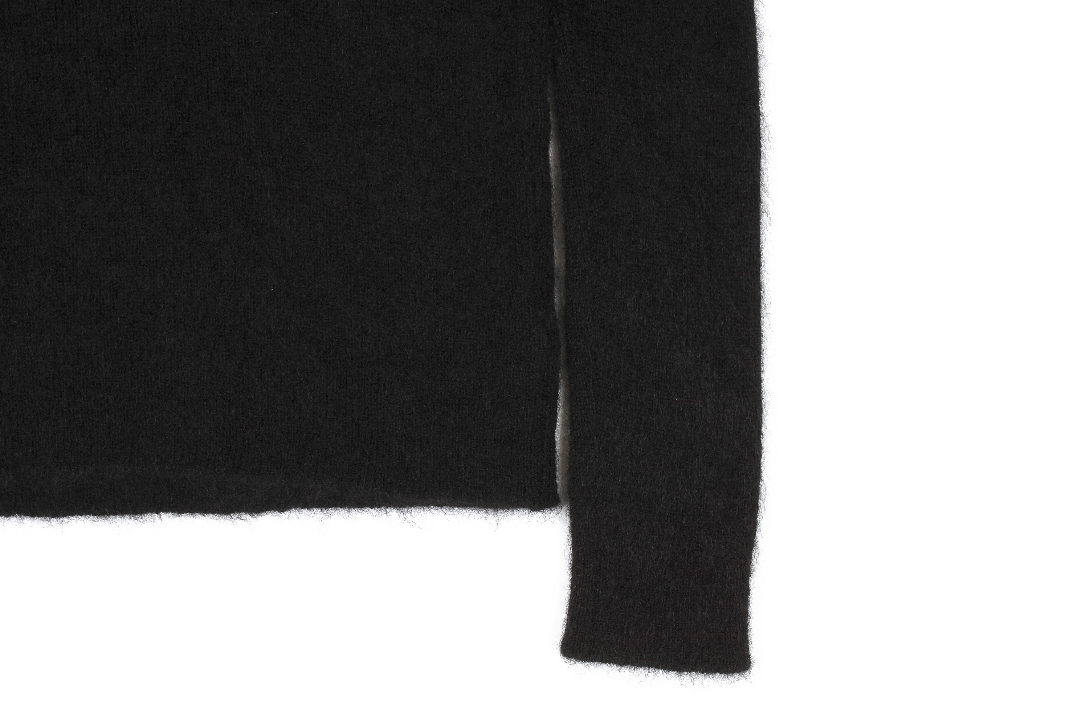 RIVORA (リヴォラ) GENTLE Knit High Neck (ジェントル ニット ハイネック) Cashmere Mohair Silk カシミア モヘア シルク ニット タートルネックセーター BLACK (ブラック・010) MADE IN JAPAN (日本製) 2021秋冬 【Alto e Diritto 別注】【Special Model】愛知 名古屋 Alto e Diritto altoediritto アルトエデリット