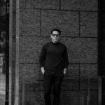 RIVORA (リヴォラ) SIDE CABLE Mock Neck Pull-Over (サイドケーブル モックネック プルオーバー) SUPER120s Wool サイドケーブル ウール モックネック セーター BLACK (ブラック・010) MADE IN JAPAN (日本製) 2021 秋冬 【Alto e Diritto 別注】【Special Model】のイメージ