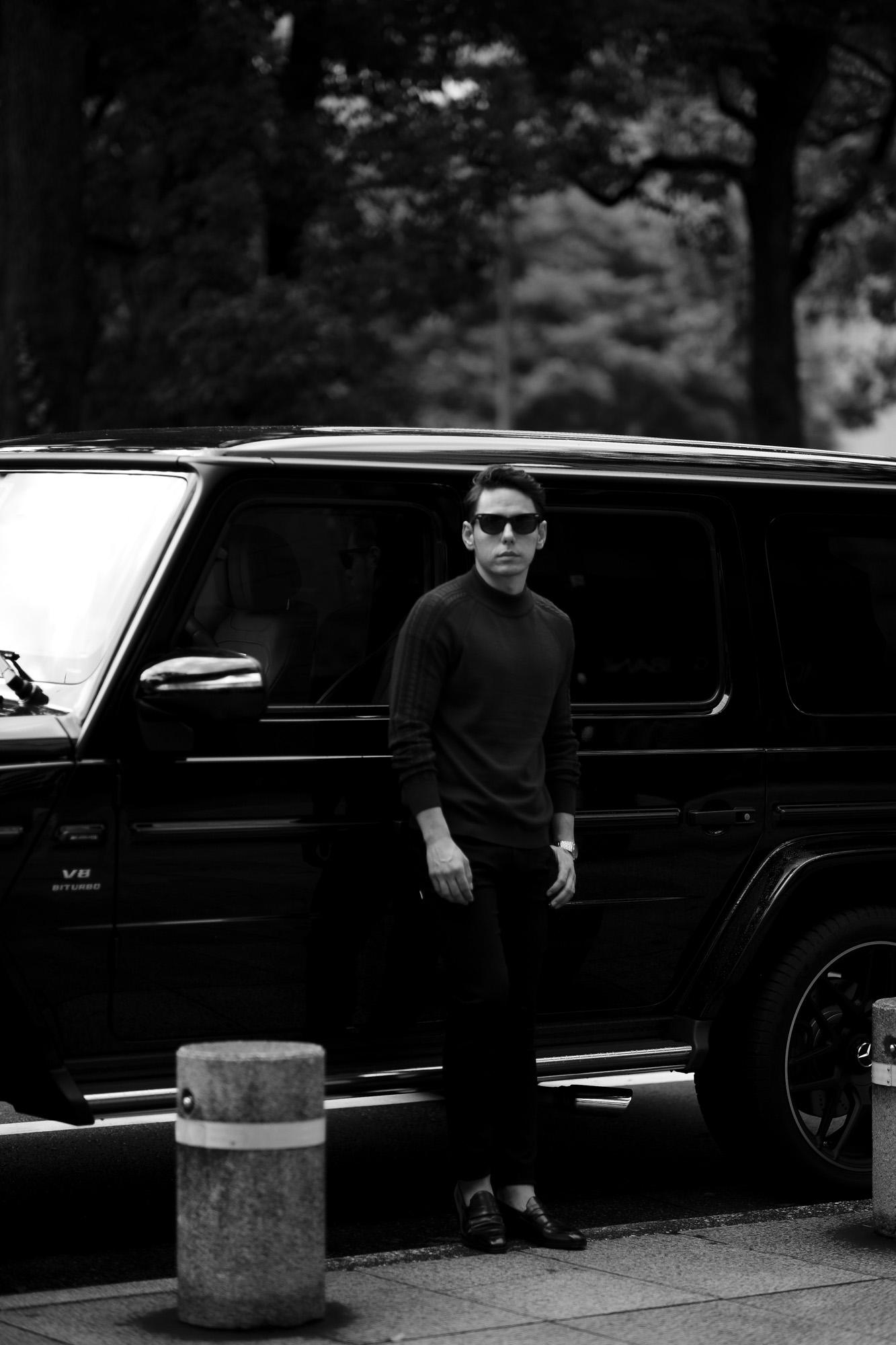 RIVORA (リヴォラ) SIDE CABLE Mock Neck Pull-Over (サイドケーブル モックネック プルオーバー) SUPER120s Wool サイドケーブル ウール モックネック セーター BORDEAUX (ボルドー・150) MADE IN JAPAN (日本製) 2021 秋冬 【Alto e Diritto 別注】【Special Model】Alto e Diritto altoediritto アルトエデリット