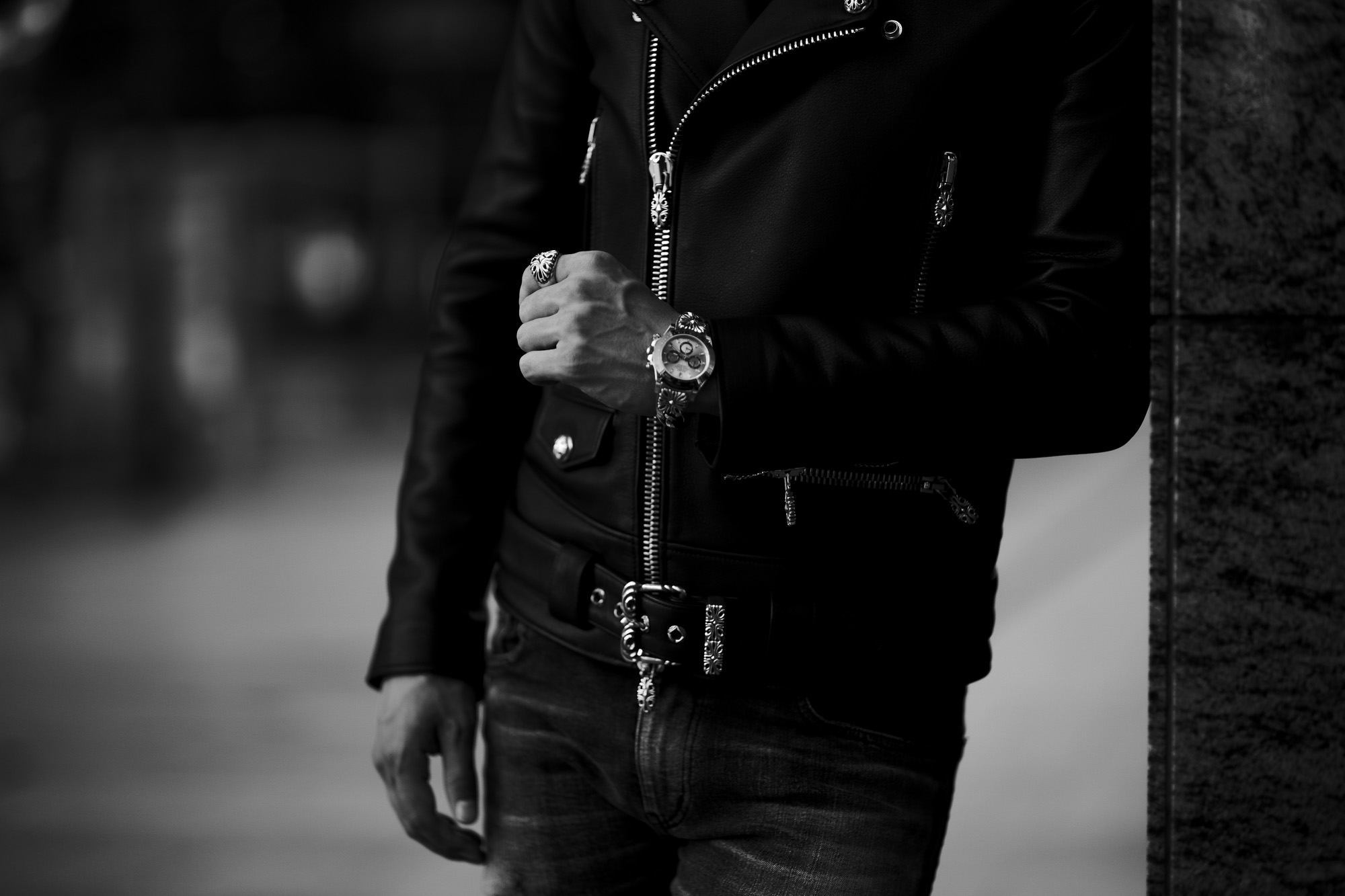 Balvenie Wilhelm No.01 DOUBLE RIDERS 925 SILVER【Special Model】バルヴェニー ヴィルヘルム ナンバーゼロワン ダブルライダース 95シルバー スペシャルモデル 愛知 名古屋 Alto e Diritto altoediritto アルトエデリット レザージャケット ライダースジャケット CHROMEHEARTS クロムハーツ レザー