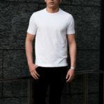cuervo bopoha (クエルボ ヴァローナ) Sartoria Collection (サルトリア コレクション) Lewis (ルイス) GIZA45 ギザコットン Tシャツ WHITE (ホワイト) MADE IN JAPAN (日本製) 2021 【第2弾再入荷しました】のイメージ