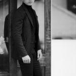 cuervo bopoha (クエルボ ヴァローナ) Sartoria Collection (サルトリア コレクション) Lobb (ロブ) Hound's tooth Jersey ハウンドトゥースジャージ ジャケット BLACK (ブラック) MADE IN JAPAN (日本製) 2021秋冬のイメージ