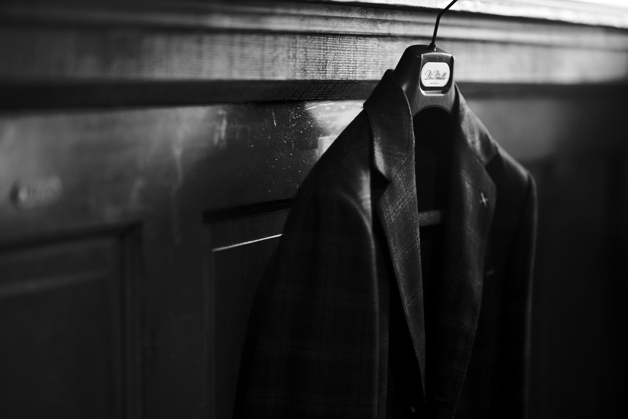 De Petrillo (デ ペトリロ) NUVOLA (ヌーボラ) カシミアウール グレンチェック ジャケット BLACK × RED (ブラック×レッド・79) Made in italy (イタリア製) 2021 秋冬 愛知 名古屋 Alto e Diritto altoediritto アルトエデリット カシミヤジャケット チェックジャケット