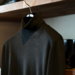 FEDELI (フェデリ) Silk Cashmere Turtle Neck Sweater シルクカシミア タートルネック セーター BLACK (ブラック・9) made in italy (イタリア製) 2021 秋冬新作 愛知 名古屋 Alto e Diritto altoediritto アルトエデリット シルカシニット
