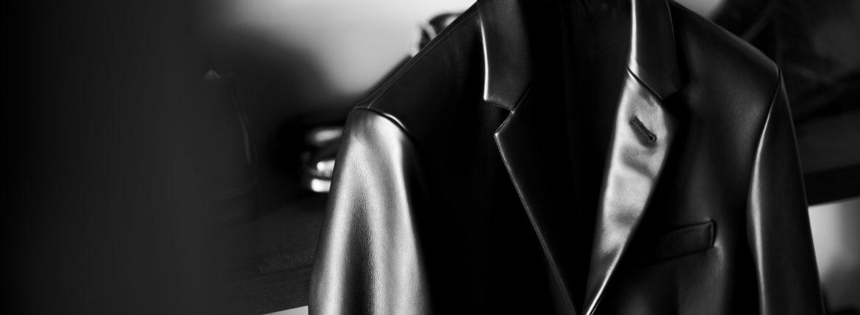 """FIXER """"F3"""" TAILORED JACKET Cow Leather BLACK フィクサー エフスリー テーラードジャケット カウレザー ブラック レザージャケット 愛知 名古屋 Alto e Diritto altoediritto アルトエデリット レザーテーラード FIXER F1 FIXER F2"""