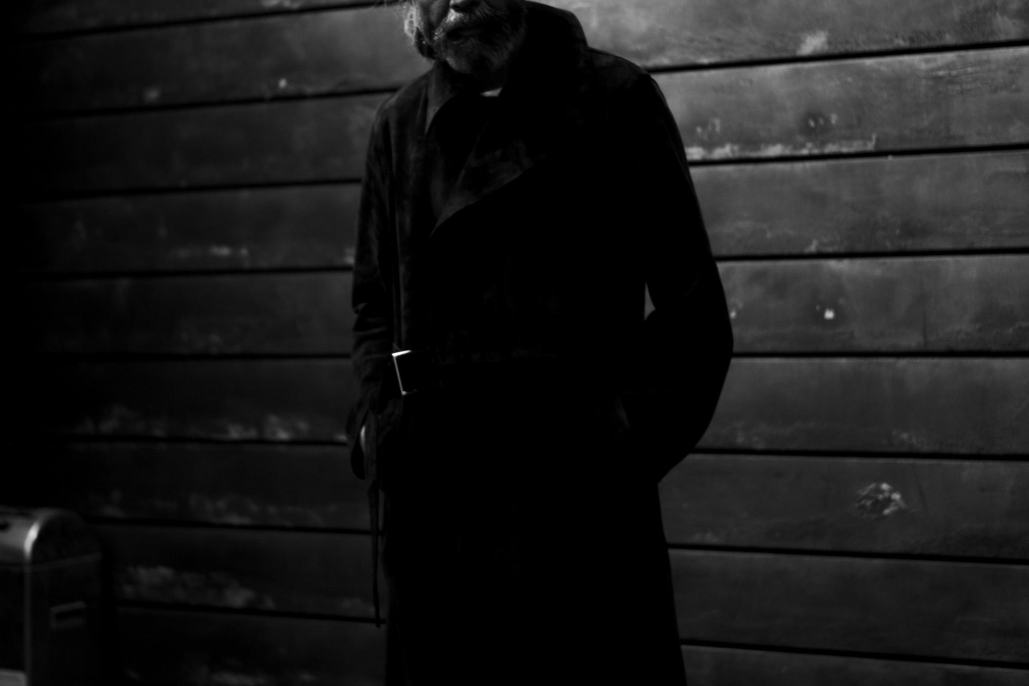 ISAMU KATAYAMA BACKLASH 1974-03 JAPAN CALF SUEDE LEATHER COAT BLACK 2022SS 【ご予約開始】レザーコート アロハシャツ パームツリー シャツ イサムカタヤマ バックラッシュ イタリーホースレザー S,M,L 木村拓屋 キムタク レザーパンツ 愛知 名古屋 Alto e Diritto altoediritto アルトエデリット 片山勇 209,000円
