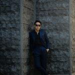 LUCA GRASSIA (ルカ グラシア) SALVATORE ENRICO (サルヴァトーレ エンリコ) サージウール シャドーストライプ スーツ NAVY (ネイビー) Made in italy (イタリア製) 2021 秋冬新作のイメージ