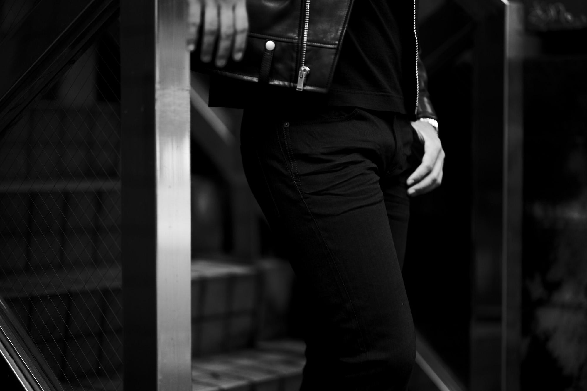 SAINT LAURENT (サンローラン) SKINNY-FIT JEANS IN USED BLACK DENIM (スキニーフィット ジーンズインユーズドブラックデニム) ストレッチ スキニー デニムパンツ BLACK (ブラック) Made in italy (イタリア製) 2021 秋冬 愛知 名古屋 Alto e Diritto altoediritto アルトエデリット サンローランデニム デニムサンローラン
