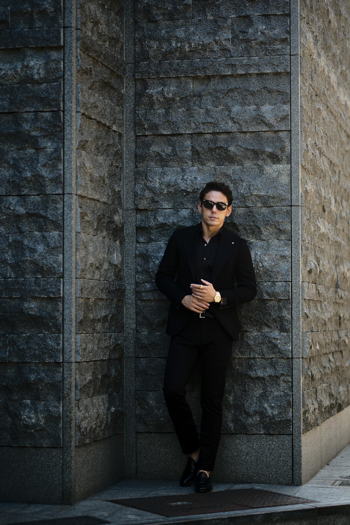 TAGLIATORE (タリアトーレ) PINO LERARIO (ピーノ レラリオ) Cashmere Jacket カシミア ジャケット NERO (ブラック) Made in italy (イタリア製) 2021 秋冬 【ご予約受付中】愛知 名古屋 altoediritto アルトエデリット カシミヤジャケット