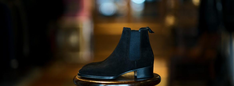 WH (ダブルエイチ) WH-6900S Elvis Last (エルヴィス ラスト) オペラ社 ロンドン スエードレザー サイドゴア ブーツ BLACK SUEDE (ブラック スエード) MADE IN JAPAN (日本製) 2021 秋冬新作のイメージ