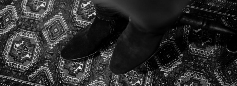 WH (ダブルエイチ) WHA-6900S Elvis Last (エルヴィス ラスト) オペラ社 ロンドン スエードレザー サイドジップ ブーツ BLACK SUEDE (ブラックスエード) MADE IN JAPAN (日本製) 2021 秋冬 【Alto e Diritto 限定 別注】【Special Model】【ご予約受付中】のイメージ