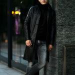 cuervo bopoha (クエルボ ヴァローナ) Satisfaction Leather Collection (サティスファクション レザー コレクション) Ferro (フェッロ) BUFFALO LEATHER (バッファロー レザー) レザー コート BLACK (ブラック) MADE IN JAPAN (日本製) 2021秋冬新作のイメージ
