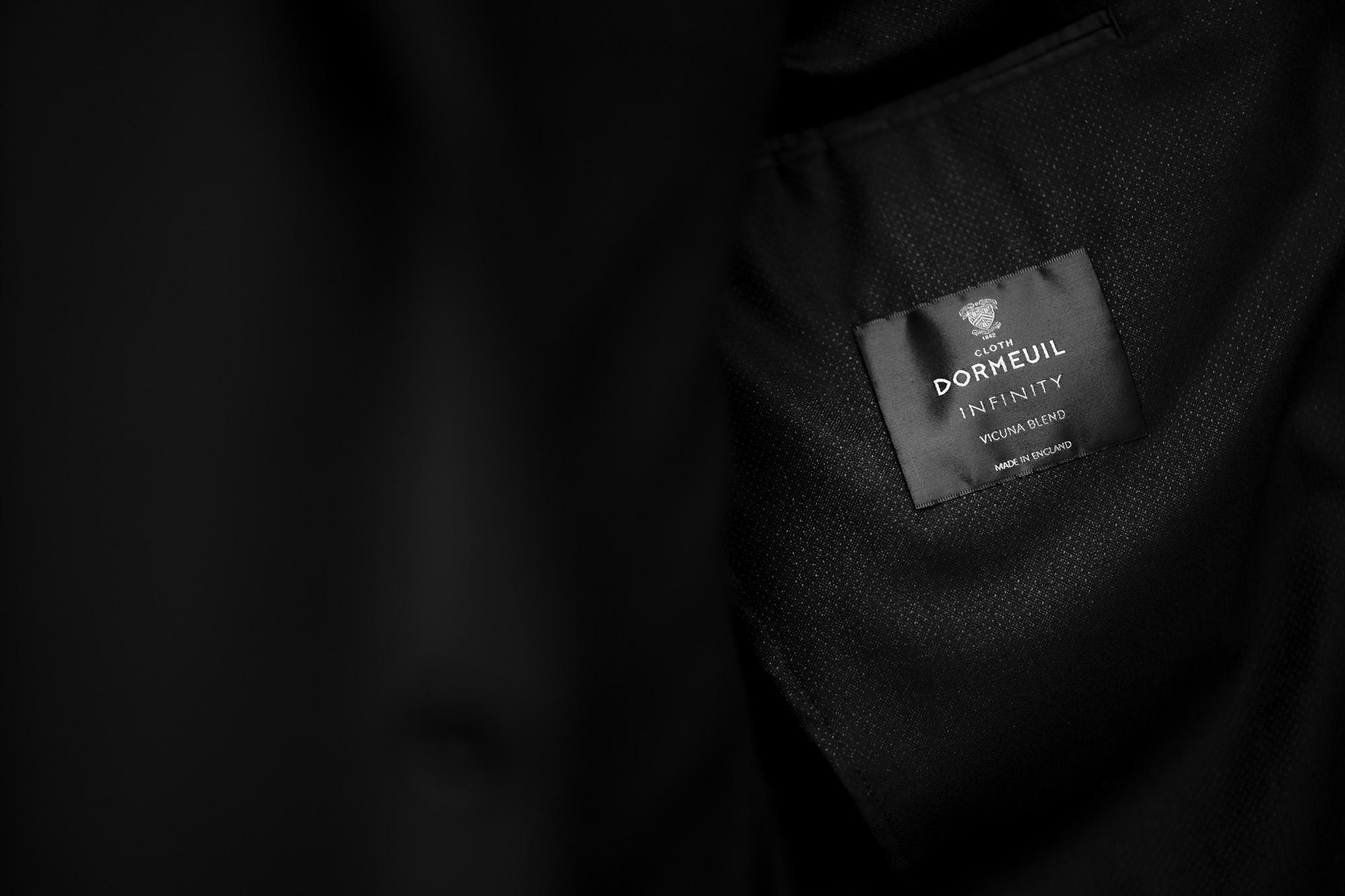 "cuervo bopoha Gaudí DORMEUIL ""VICUNA"" BLACK × BROWN 2021 AW 【Special Model】 愛知 名古屋 Alto e Diritto altoediritto アルトエデリット  クエルボヴァローナ ガウディ ドーメル ビキューナ ジャケット Worsted Wool Super 180's Silk Vicuna シルク"