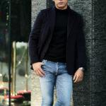 Finjack (フィンジャック) Cashmere 2B Jacket ヌーヴォラライン カシミヤ ジャケット NAVY (ネイビー) Made in italy (イタリア製) 2021 秋冬新作のイメージ