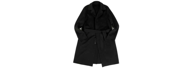 Finjack (フィンジャック) Cashmere Double Face Belted coat カシミア ダブルフェイス ベルテッド バルカラー コート BLACK (ブラック) MADE IN JAPAN (日本製) 2021 秋冬新作 愛知 名古屋 Alto e Diritto altoediritto アルトエデリット コート