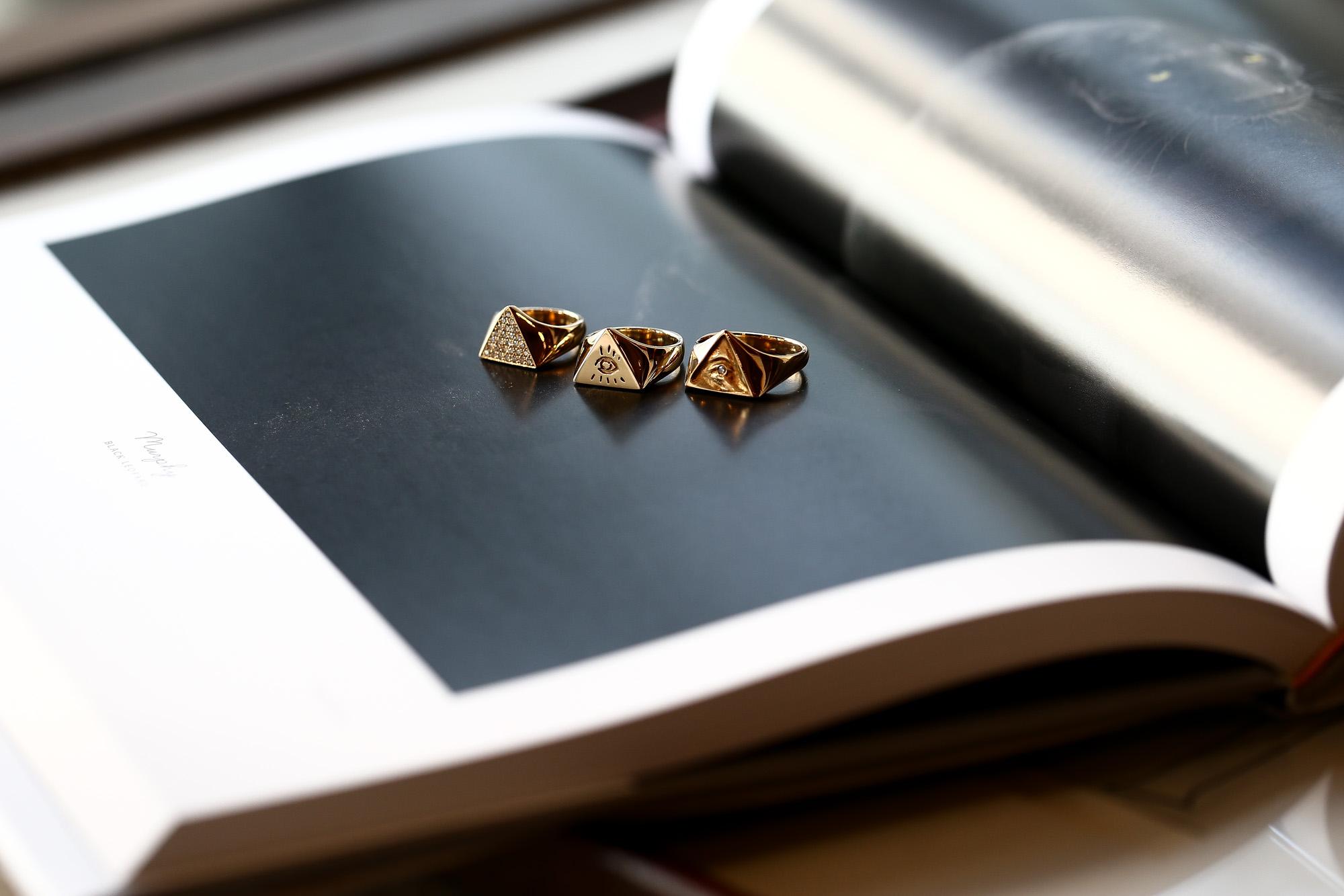 """FIXER """"ILLUMINATI EYES RING FULL PAVE WHITE DIAMOND 22K GOLD"""" ×  FIXER """"ILLUMINATI EYES RING 18K GOLD"""" × FIXER """"ILLUMINATI EYES RING WHITE DIAMOND 18K GOLD SP"""" イルミナティ アイズリング ホワイトフルパヴェ ダイヤモンド ゴールド 愛知 名古屋 altoediritto アルトエデリット スペシャルリング コレクション"""