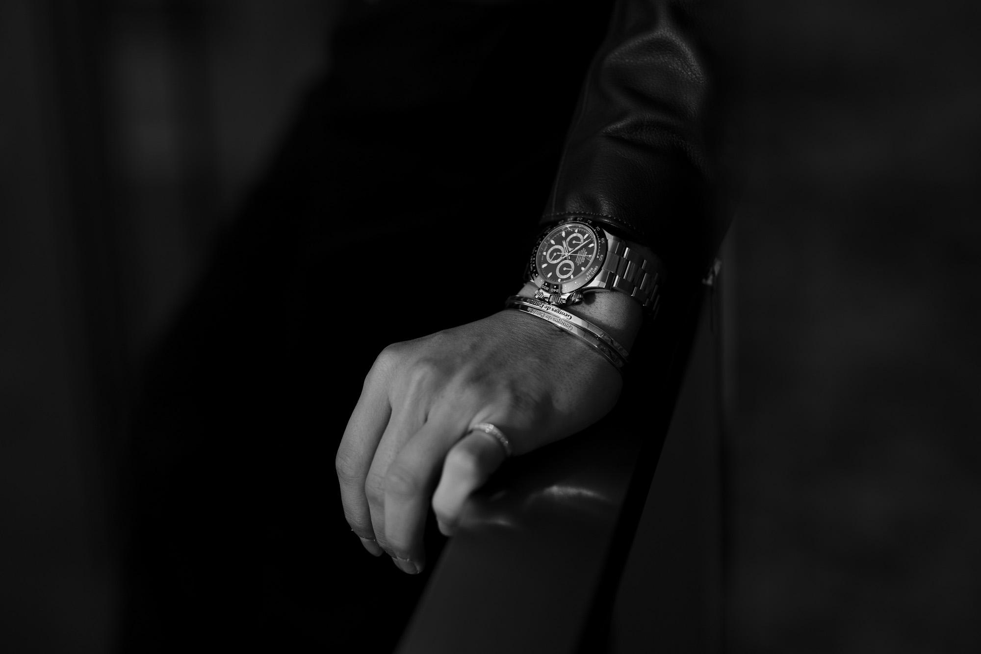 "Georges de Patricia ""Wraith 18K GOLD"" × Georges de Patricia ""Ghost 18K GOLD,925 STERLING SILVER"" × ROLEX ""COSMOGRAPH DAYTONA 116500LN"" ジョルジュドパトリシア レイス 18Kゴールド ゴースト ロレックス デイトナ 愛知 名古屋 Alto e Diritto altoediritto アルトエデリット コーディネート スペシャルモデル"