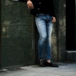 BALMAIN(バルマン)SKINNY COTTON SLIM CUT JEANS (スキニー コットン スリムカット ジーンズ) ストレッチ スキニー デニムパンツ BLUE (ブルー) MADE IN JAPAN (日本製) 2021秋冬新作のイメージ