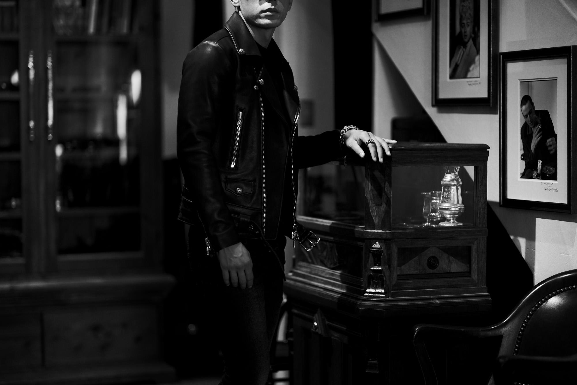 Balvenie Wilhelm (バルヴェニー ヴィルヘルム) No.01 DOUBLE RIDERS 925 SILVER (ナンバーゼロワン ダブルライダース 925シルバー) COW LEATHER (カウレザー) レザージャケット ダブルライダース ジャケット BLACK (ブラック) Made In England (イギリス製) 【Special Model】 スペシャルモデル 愛知 名古屋 Alto e Diritto altoediritto アルトエデリット レザージャケット ライダースジャケット CHROMEHEARTS クロムハーツ レザー クロムハーツライダース