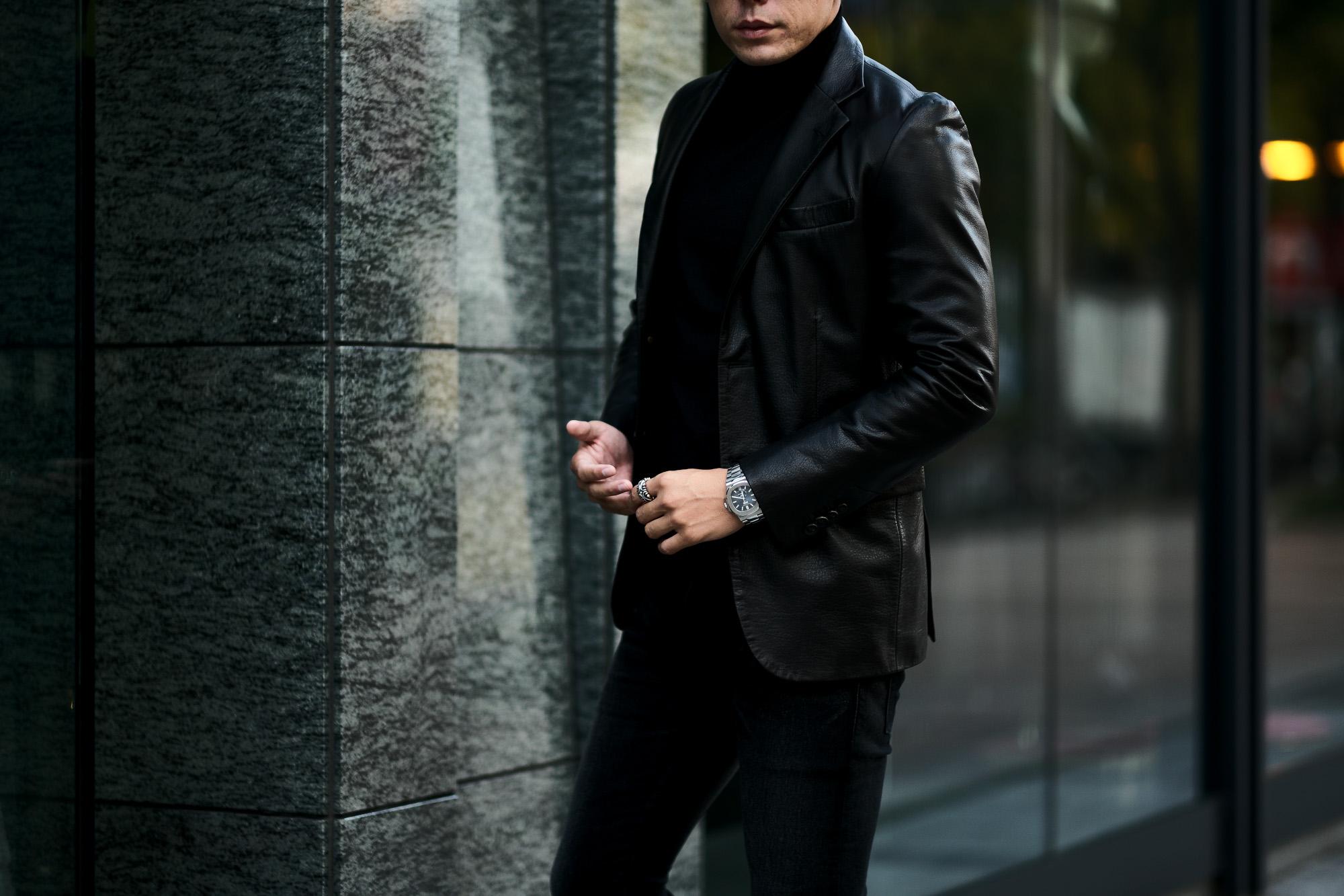 cuervo bopoha(クエルボ ヴァローナ) Satisfaction Leather Collection (サティスファクション レザー コレクション) LEON (レオン) BUFFALO LEATHER (バッファロー レザー) シングル テーラード ジャケット BLACK (ブラック) MADE IN JAPAN (日本製) 2021秋冬新作 【入荷しました】【フリー分発売開始】 愛知 名古屋 altoediritto アルトエデリット